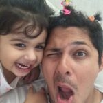 Vishal Malhotra with his daughter