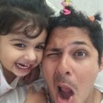 Vishal Malhotra with his daughter