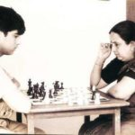 Viswanathan Anand Playing Chess With His Mother Susila