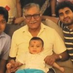 Yash Sinha with father, brother and son