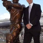 Ricky Ponting With His Statue
