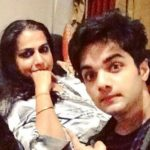 Aakarshan Singh with his mother