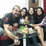 Adi Irani with his wife and daughters