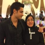 Adnan Khan with his mother