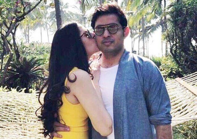 Akash Ambani and Shloka Mehta kiss