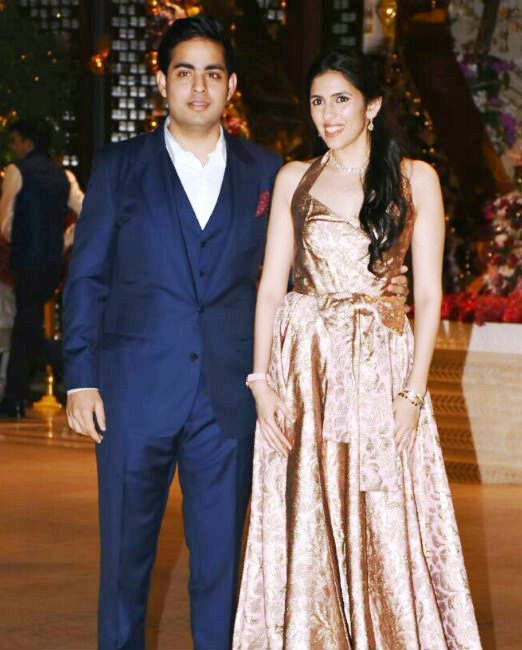 Akash Ambani and Shloka Mehta