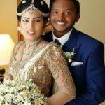 Akila Dananjaya With His Wife Nethalie Tekshini