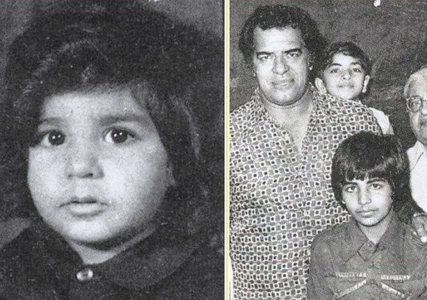 Akshay Kumar Childhood Photo With Dara Singh
