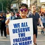 Ankita Mehra Protesting for her LGBTQ community