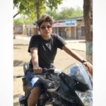 Ankita Mehra riding bike