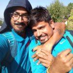 Anureet Singh With Cricketer Karn Sharma