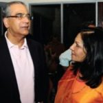 Aroon Purie With His Sister Madhu Trehan