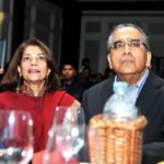 Aroon Purie With His Wife Rekha Purie