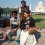 Ashish Vidyarthi with his wife Rajoshi Barua and son Arth Vidyarthi