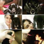 Ashlesha Savant with her pet dog
