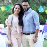 Avni Zaveri with her husband