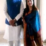 Biplab Kumar Deb with his wife Niti Deb