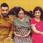 Bipul Sharma with his mother and wife