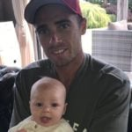 Brya Fahy husband Tim Southee and their Daughter