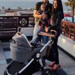 Celina Jaitly with her husband and son Arthur