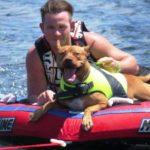 D'Arcy Short, a dog lover