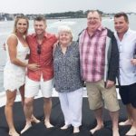 David Warner with his family, from left (wife, parents, and brother)