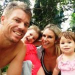 David Warner with his wife and daughters