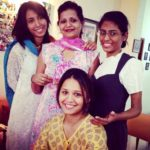 Dipika Pallikal with her mother and sisters