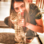 Dolly Sharma cat lover