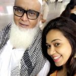 Firoza Khan with her father
