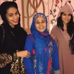 Firoza Khan with her mother and sister