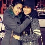 Firoza Khan with her sister