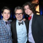 Gary Oldman With His Sons Gulliver And Charlie