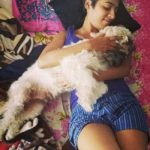 Gayathri gupta with her dog