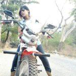 Gayathri gupta riding bike