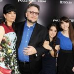Guillermo del Toro with his Ex-wife and daughters