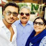 Harshvardhan Deo with his parents