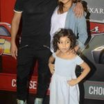 Kiran Janjani with his wife and daughter