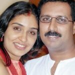 Krishna Kumar with his ex-wife Anu Prabhakar