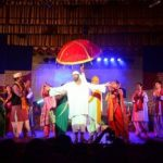 Mukul Nag playing Sai Baba in a thetre play