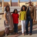 Mukul Nag with his wife and daughters