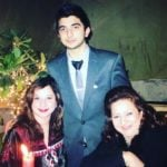 Muskan Sethi's mother on right, sister on left and brother in the middle