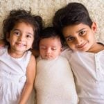 Nikita Vanjara children Nivaan (Right), Aarav (Center), and Eva (Left)