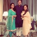 Pranay Pachauri with his mother and sister