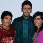 Prashant Chopra With His Mother Beas Chopra And Sister