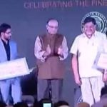 Preeti Choudhry Receiving Ramnath Goenka Award