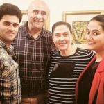 Puneet Issar with his wife, son and daugter