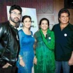 Raj Babbar with his wife, son (Arya), and daughter