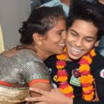Ritik Diwakar with his mother