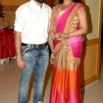 Sadhika Venugopal with her brother Vishnu Vr